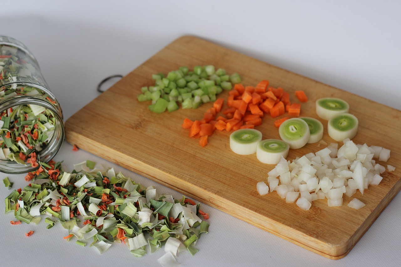 Сушеные фрукты и овощи
