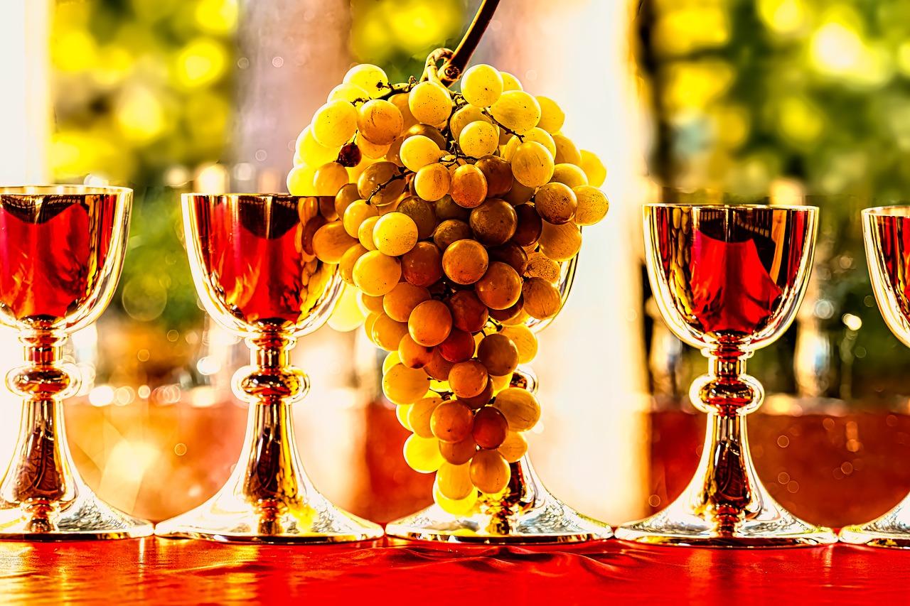Святое Причастие и виноград